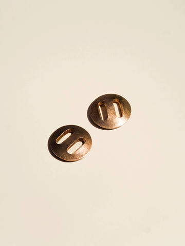 Copper Buttons with Slotted Holes