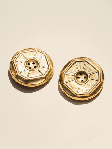 Oversized Brass Octagon Timeless Classic - Button Avenue
