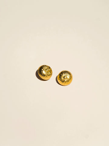 Domed Brass Flower Shank - Button Avenue