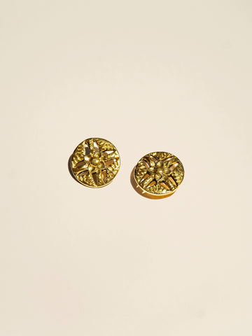 Pierced Vintage Brass Flower - Button Avenue - 2