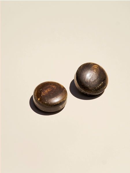 Rounded Brown Horn Shank - Button Avenue