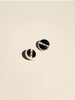 Black and White Striped Button - Button Avenue - 2
