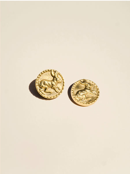 Brass Rabbit Shank - Button Avenue - 1