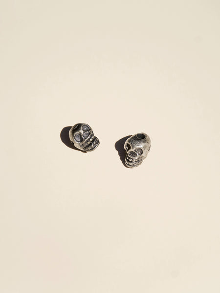 Brass Skull Head Bead - Button Avenue