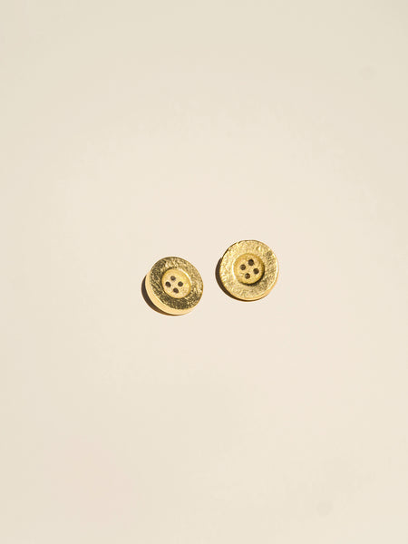 Brass Rimless Button with Depressed Center - Button Avenue