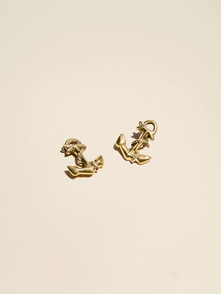 Brass Anchor Charm Embellishment - Button Avenue
