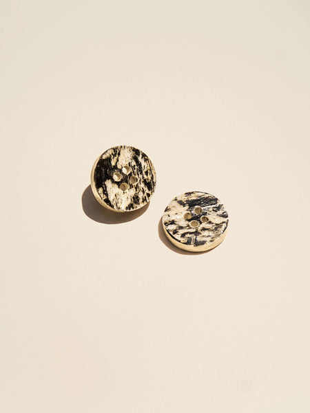Natural Bone Rimless Button - Button Avenue