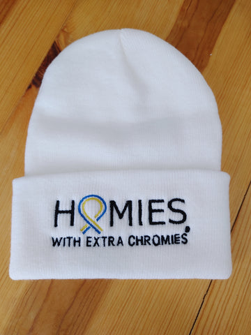 HWEC - I Love Homies with Extra Chromies® - White Knit Caps
