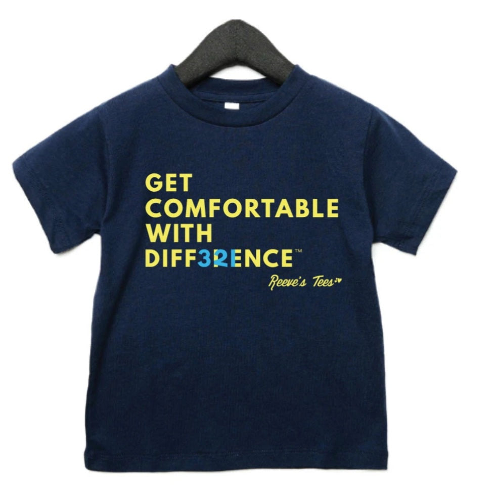 """Get Comfortable with Difference"" (hidden numbers) - Toddler - Short Sleeve Tees"