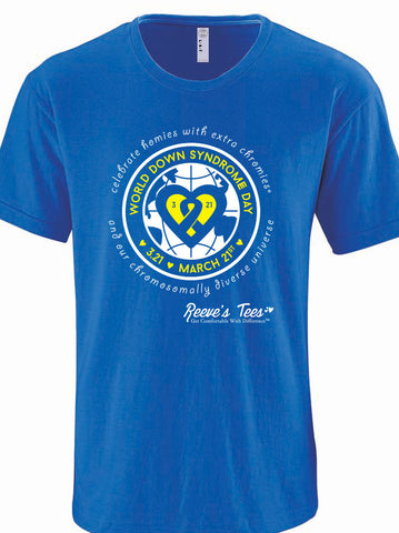 World Down Syndrome Day T-Shirt - Royal Blue - Toddler, Youth & Adult Tees