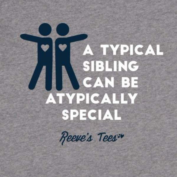 "SIBS - ""A Typical Sibling Can Be Atypically Special"" - Toddler - Short Sleeve Tee"