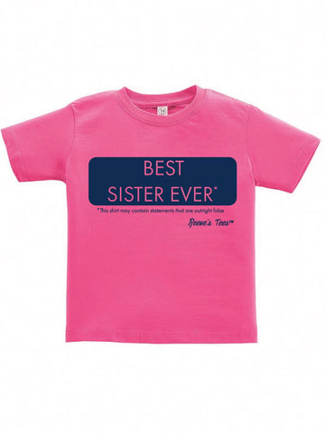SIBS - Best Sister Ever* - Kids - Short Sleeve Tee
