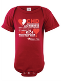 CHD (Congenital Heart Defect) Awareness Tees - Infant - Onesie