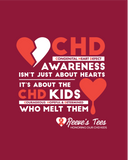 CHD (Congenital Heart Defect) Awareness Tees - Infant, Toddler, Youth & Adult - Onesie & Tee