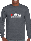 HWEC - I Love Homies with Extra Chromies® - Adult - Long Sleeve - Ultra Cotton Colored Tee