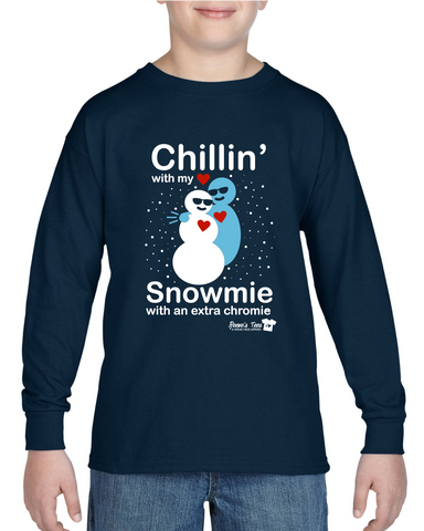 Winter - Chillin' with my Snowmie with an Extra Chromie - Kids - Long Sleeve Tee