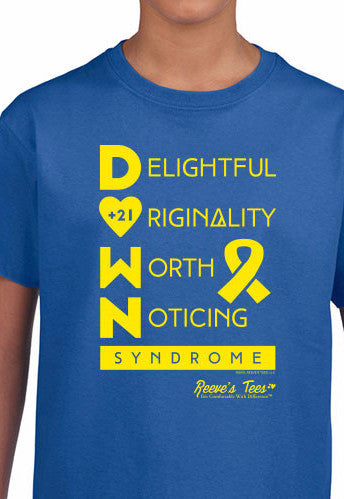 D.O.W.N. Syndrome Awareness Tee - Infant, Toddler & Youth - Short Sleeve Tee