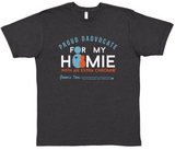 HWEC - Proud Dadvocate for my Homie with Extra Chromie™ - Adult - Short Sleeve Tee - Dark Grey