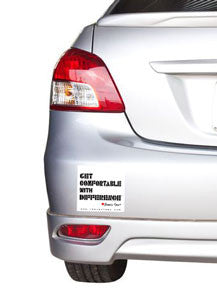 Get Comfortable With DifferenceTM Bumper Sticker
