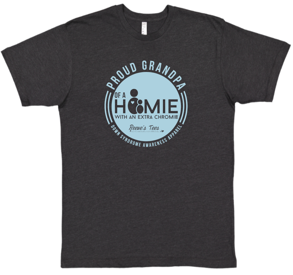 HWEC - Proud Grandpa of a Homie with an Extra Chromie™ - Men's Short Sleeve