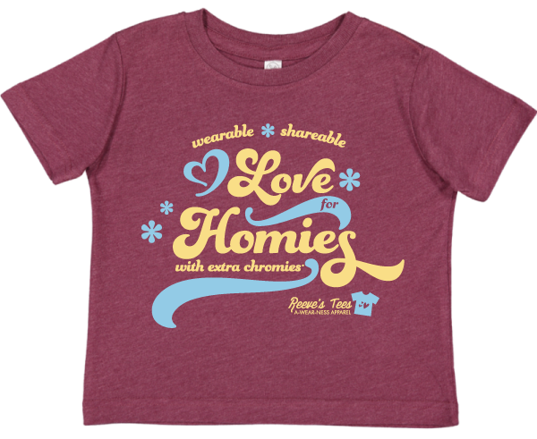 HWEC - Groovy - Wearable, Sharable Love for Homies with Extra Chromies® - Kids - Short Sleeve Tee