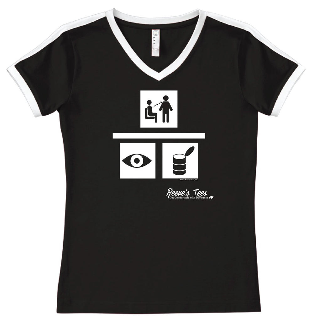 Seek to Understand - I Can Understand - Ladies - V-Neck Soccer Style Tee