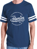 HWEC - Football Style - I Love Homies with Extra Chromies® - Adult - Short Sleeve Tee