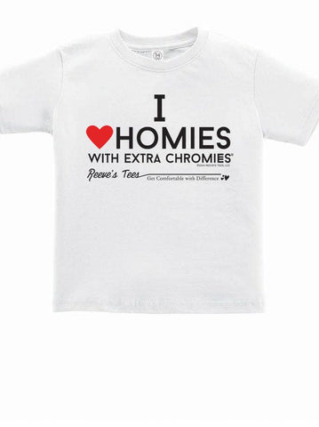 HWEC - I Love Homies with Extra Chromies® - Kids - Short Sleeve Tee - White