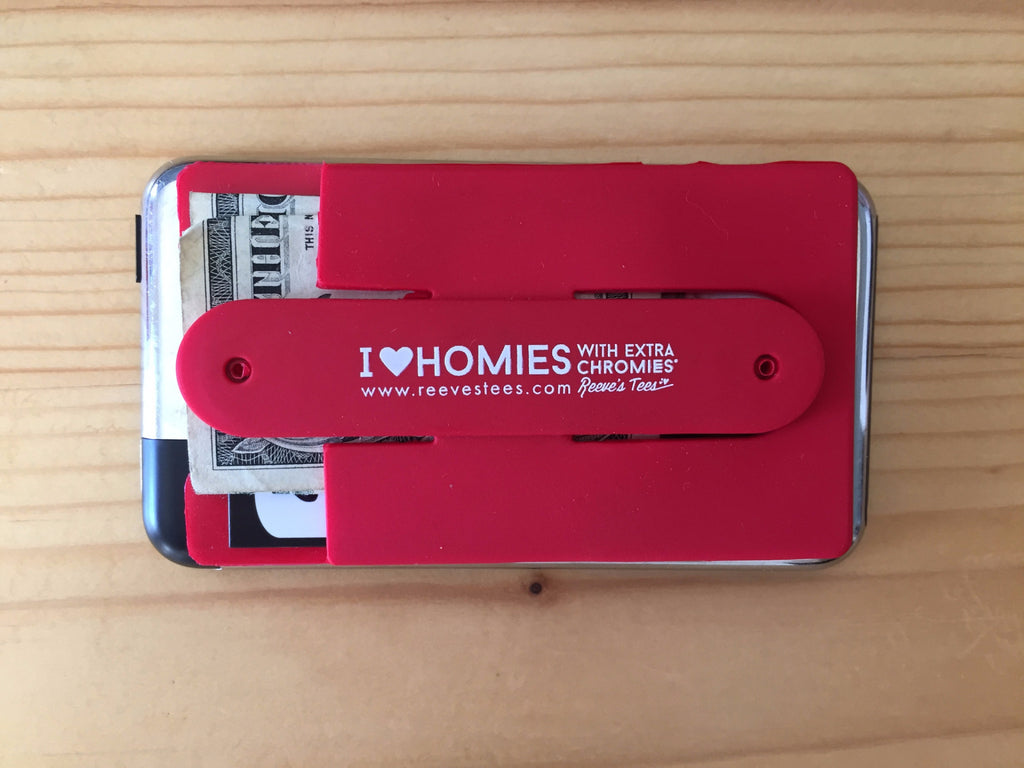 HWEC - I love homies with extra chromies® Silicone Cell Phone Wallet