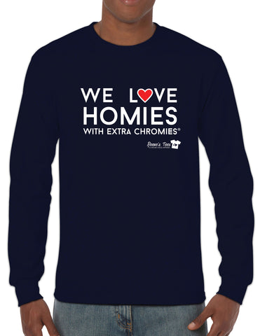 HWEC - We Love Homies with Extra Chromies® - Adult - Long Sleeve - Ultra Cotton Colored Tee