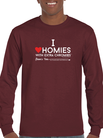 I Love Homies with Extra Chromies® - Adult - Long Sleeve - Ultra Cotton Colored Tee