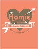 HWEC - My Homie is Where My Heart Is - Ladies V-Neck