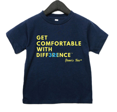 """Get Comfortable with Difference"" (hidden numbers) - Kids - Short Sleeve Tees"