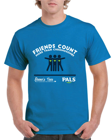 "Special Edition PALS Program - ""Friends Count More"" - Adult - Short Sleeve Tee"