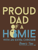 HWEC - Proud Dad of a Homie with an Extra Chromie™ - Men's Short Sleeve - Ringspun Cotton Tee