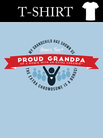 Proud Grandpa of a Homie with an Extra Chromie™ - Men's Short Sleeve - Ultra Cotton Tee