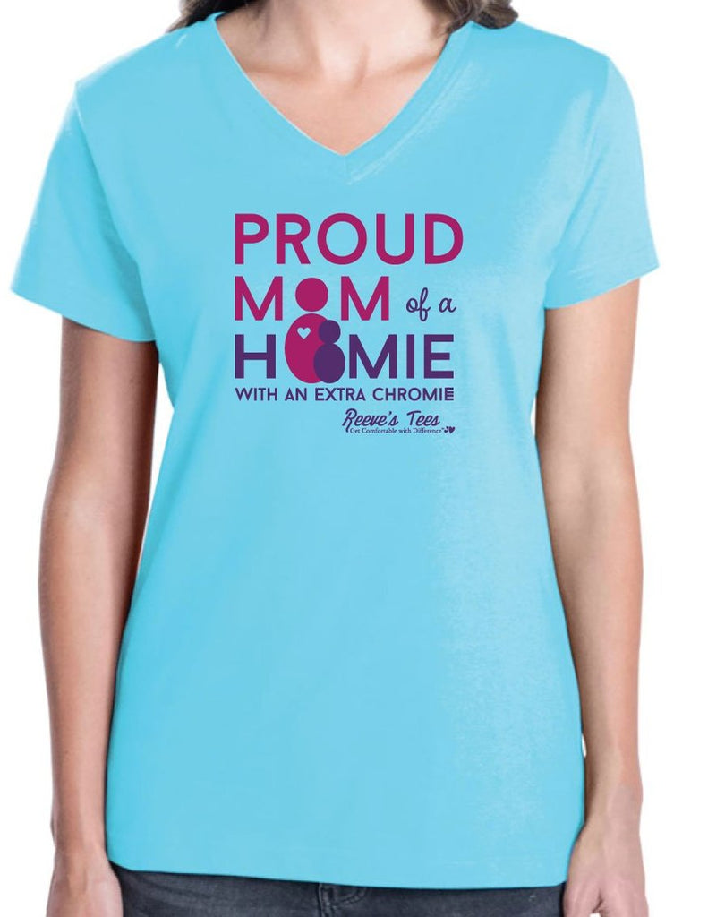 HWEC - Proud Mom of a Homie with an Extra Chromie™ - Ladies - Short Sleeve