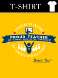 HWEC - Proud Teacher of Homies with Extra Chromies® - Adult Short Sleeve - Heavy Cotton - Gold