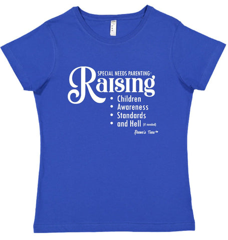 Special Needs Parenting (funny) - Ladies - Short Sleeve Tee
