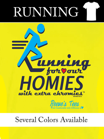 "HWEC - ""Running for Our Homies with Extra Chromies""- Ladies - Short Sleeve Performance Tee"