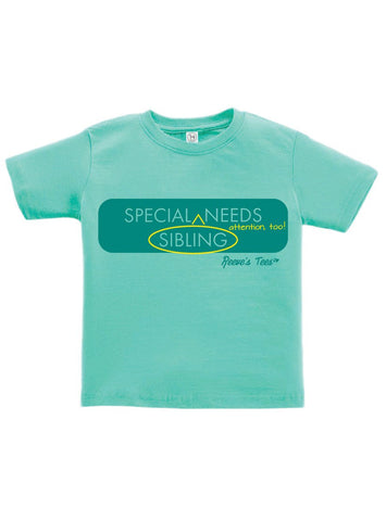 "SIBS - Special Sibling [Needs] ^ Attention, Too!"" - Kids  - Short Sleeve Tee"