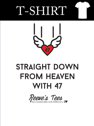 Straight Down from Heaven with 47 - Toddler - Short Sleeve Tee