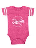 HWEC - Football Style - I Love Homies with Extra Chromies® (SUPPORTERS) - Toddler - Short Sleeve Tee - Multiple Colors