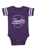 HWEC - Football Style - I Love Homies with Extra Chromies® (SUPPORTERS) - Infant - Onesie - Multiple Colors