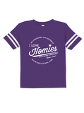 HWEC - Football Style - I Love Homies with Extra Chromies® (SUPPORTERS) - Infant - Short Sleeve Tee - Multiple Colors