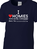 HWEC - I Love Homies with Extra Chromies® - Kids - Short Sleeve Tee - Multiple Colors