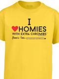 HWEC - I Love Homies with Extra Chromies® - Toddler - Short Sleeve Tee - Multiple Colors
