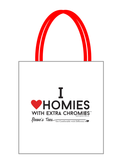 HWEC - I Love Homies with Extra Chromies® - Canvas Tote Bag