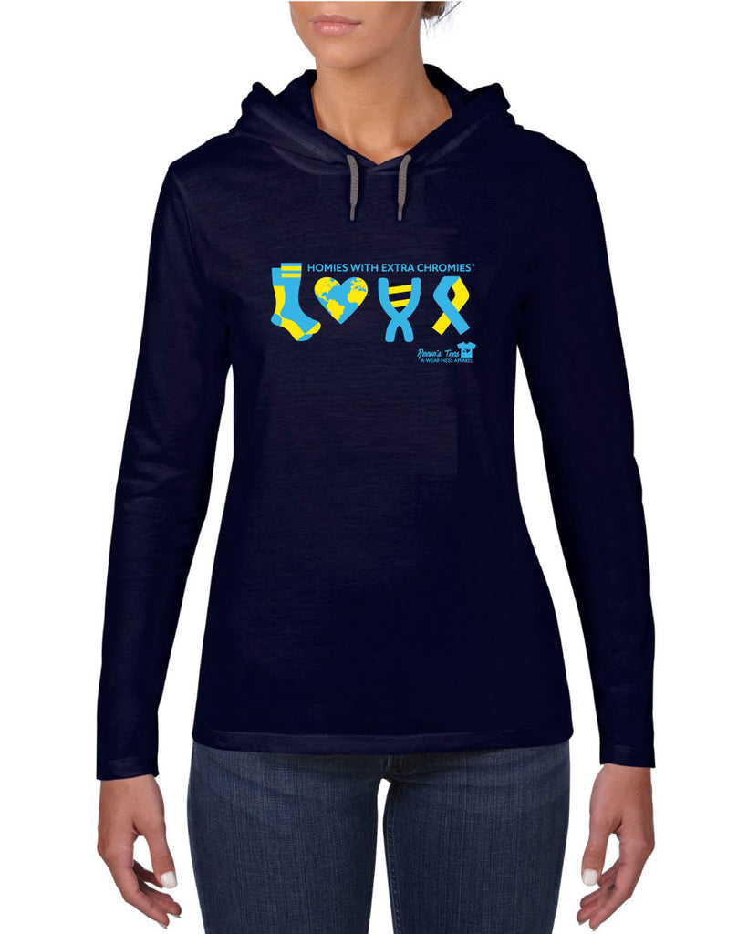 WDSD - Homies with Extra Chromies® LOVE - Adult and Ladies Thin Hoodies