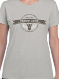 HWEC - Proud Aunt of a Homie with an Extra Chromie - Ladies - Short Sleeve - Heavy Cotton Light Gray
